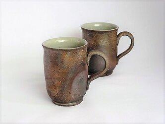 焼き締めマグカップ(細)の画像