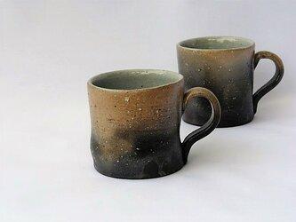 焼き締めマグカップの画像
