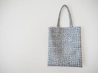 リバティ ラミネートミニバッグ 「Sleeping Rose」ブルーの画像