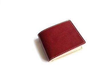 【受注生産品】二つ折り財布 ~栃木アニリンバーガンディ×栃木サドル~の画像