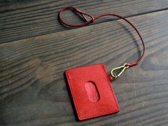 pass case (red)/ ストラップ付の画像