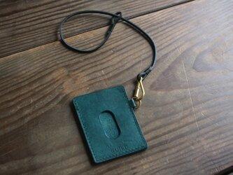 pass case (turquoise)/ ストラップ付の画像