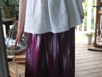 銘仙反物から袴パンツの画像