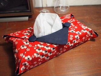 着物のティッシュカバー(梅)の画像