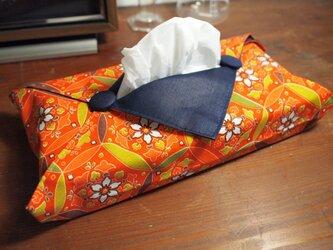 着物のティッシュカバー(鞠)の画像