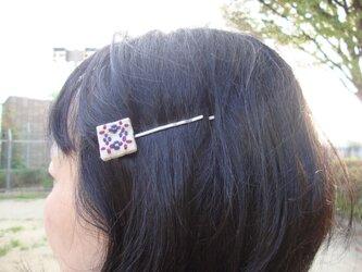 【再販】刺し子のヘアピン・方眼その4の画像