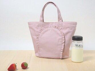 ミニ・フリルトートバッグ ピンクの画像
