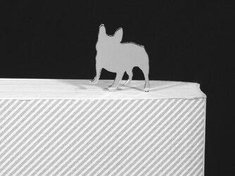 Dog-BookMark-30-h シルバーブックマーク しおり フレンチブルドッグ<受注制作>の画像