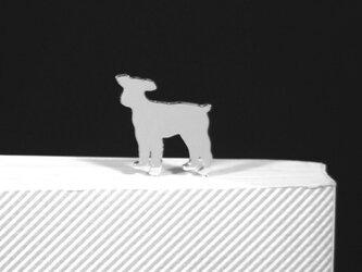 Dog-BookMark-31-h シルバーブックマーク しおり ミニチュアシュナイウザー【受注制作】の画像