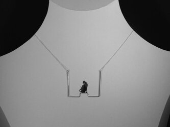 Cat-6 Square Necklace  ネコ シルバー ネックレス 【受注制作】の画像