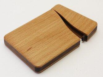 木製名刺入れ スタンダード(ブナ×ウォールナット)の画像