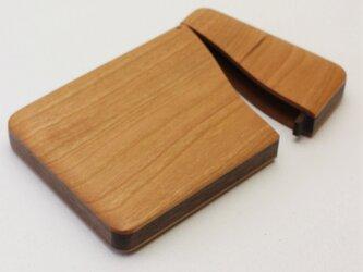 木製名刺入れ スタンダード(チェリー×ウォールナット)の画像