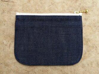 【デニム濃色】身軽になれる!岡山デニムのミニ財布の画像