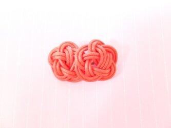 和 ツインブローチ(赤)の画像