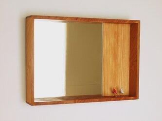 はこ鏡 欅(ケヤキ)材13の画像