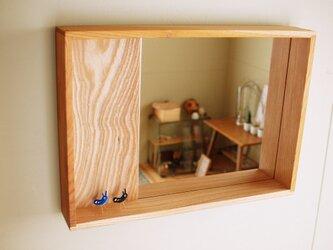 木製 箱鏡 欅(ケヤキ)材9の画像