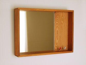 はこ鏡 欅(ケヤキ)材8の画像