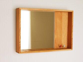 はこ鏡 欅(ケヤキ)材10の画像