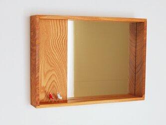 はこ鏡 欅(ケヤキ)材12の画像