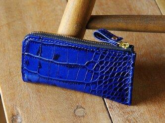 《LEO》L型ジップマルチケース ブルーの画像