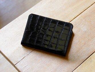 《LEO》二つ折りパスケース ブラックの画像