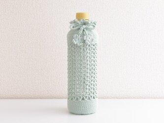177.A 600-500mlと水筒ボトルカバー(グリーン系・千草色)の画像