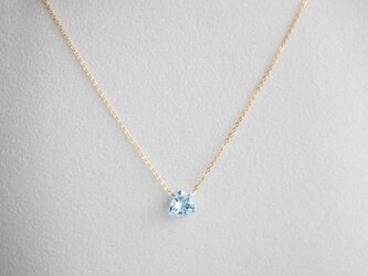 宝石質△スカイブルートパーズの一粒ネックレス【K14gf】の画像