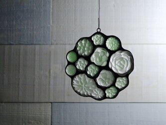 ガラスのスワッグ[多肉植物ガーデン]S Aタイプの画像