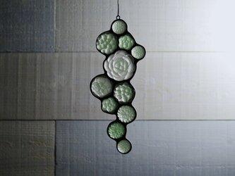 ガラスのスワッグ[多肉植物ガーデン]S たて長タイプの画像