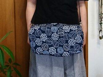 【レインカバー/紫陽花/紺色】クランポン軽量コンパクトケース用(Buffet Crampon B クラリネット用)の画像
