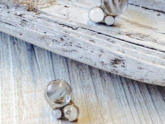 水玉ピアス-ハーモニー 小さなステンドグラスのピアスの画像