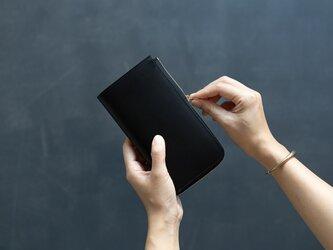 【受注製作】革の財布L ブラックの画像