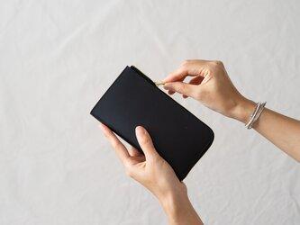 革の財布L ブラックの画像