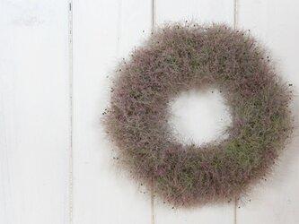 スモークツリーのシンプルリースの画像