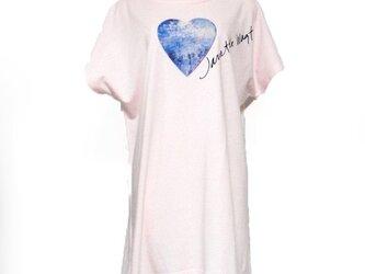 ハートブルーTシャツ ピンクの画像