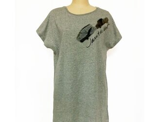 キャラバンカープリント ロングTシャツグレーの画像