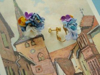 ブルーブルーシリーズ  小花いっぱいイヤリングの画像