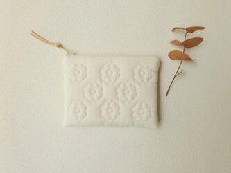花キルトのスリムポーチ(miniきなり)の画像