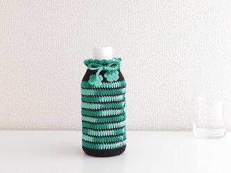 183. 350ml 刺繍糸のボトルカバー 350(グリーンミックス)の画像