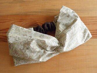 [sale!]ねじりターバン ヘアバンド ペパーミントグリーンのペイズリーの画像