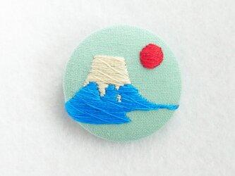 刺繍ブローチ 富士山の画像