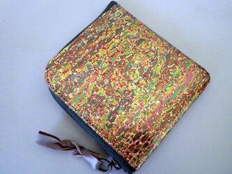 ハーフウオレット 革 玉虫色の画像