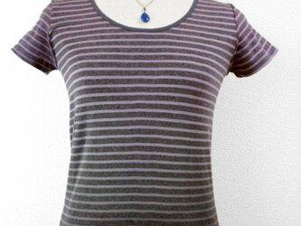 半袖Tシャツ(Uネック・ボーダーカラーグラデーション)の画像