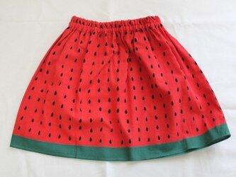 てぬぐいスカート 100サイズ すいかの画像