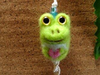 羊毛ストラップ*カエル(小)*ハートの画像