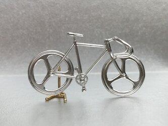 自転車ペンダント ドロップハンドル - Silverの画像