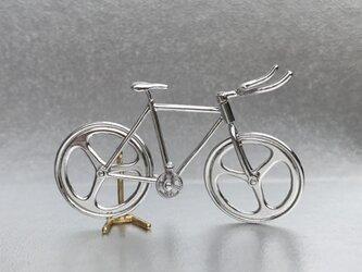 自転車ペンダント ブルホーンハンドル - Silverの画像
