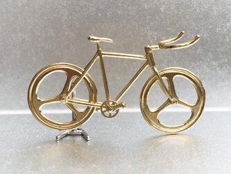 自転車ペンダント ブルホーンハンドル - Goldの画像