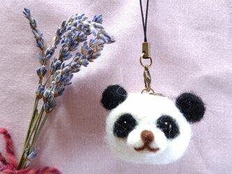 羊毛ストラップ(2way)*香りアニマル*パンダの画像