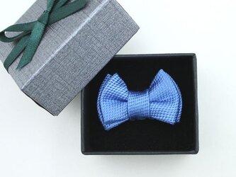 蝶ネクタイのタックピン・サファイアブルーの画像